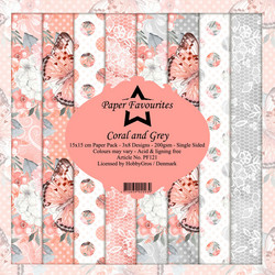Dixi Craft Coral and Grey -paperipakkaus
