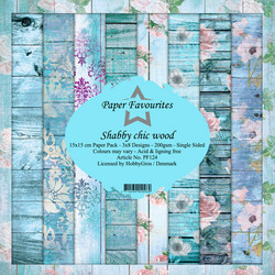 Dixi Craft Shabby Chic Wood -paperipakkaus