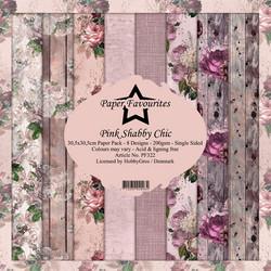 Dixi Craft Pink Shabby Chic -paperipakkaus, 12