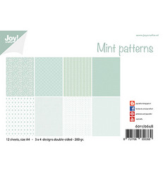 Joy! crafts paperipakkaus Mint Patterns