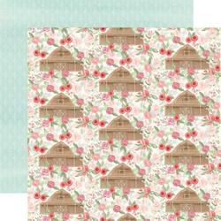 Carta Bella Farmhouse Market skräppipaperi Barn Floral
