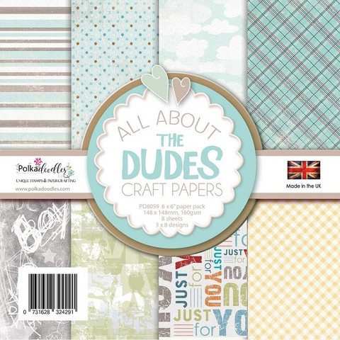 Polkadoodles All About the Dudes -paperipakkaus
