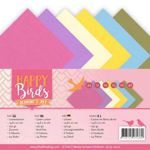 Jeanines Art Happy Birds kartonkipakkaus, A5