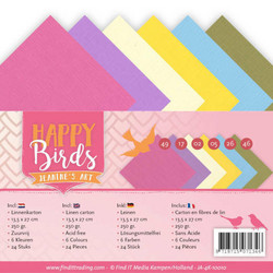 Jeanines Art kartonkipakkaus Happy Birds, 13.5 x 27 cm
