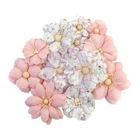 Prima Pretty Mosaic Mulberry paperikukat Cracked Marble