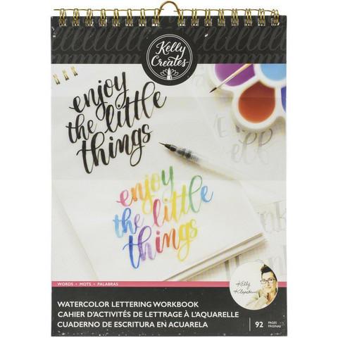 Kelly Creates Watercolor Brush Lettering Workbook  -harjoitusvihko, Words