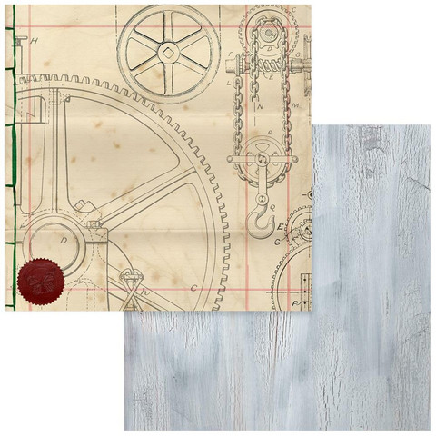 Couture Creations skräppipaperi Steampunk Dreams #04