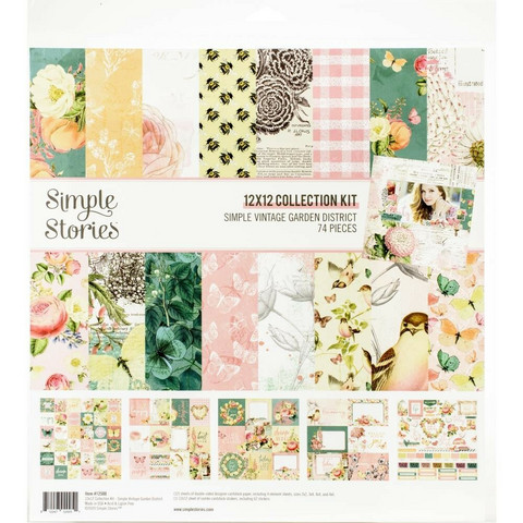 Simple Stories Vintage Garden District Collection -paperipakkaus