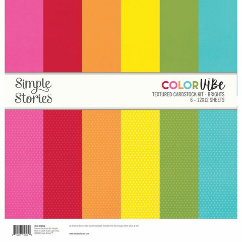 Simple Stories Color Vibe -paperipakkaus Brights