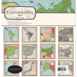 Carta Bella Cartography No. 2 -paperipakkaus, 12