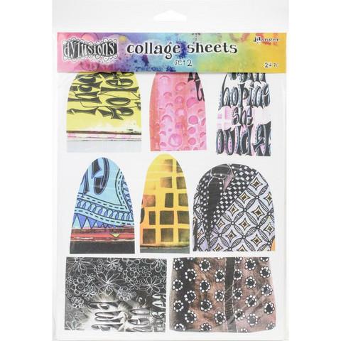 Dyan Reaveley's Dylusions Collage Sheets -paperipakkaus, setti 2