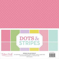 Echo Park Dots & Stripes Spring -paperipakkaus