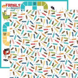 Carta Bella Family Night skräppipaperi Soda