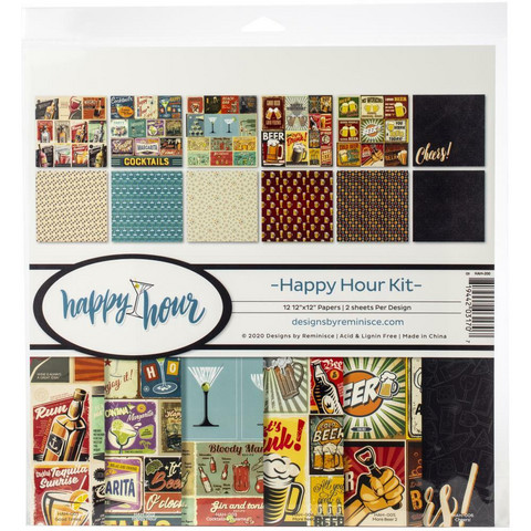 Reminisce Happy Hour -paperipakkaus 12