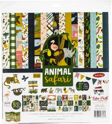 Echo Park Animal Safari -paperipakkaus, 12
