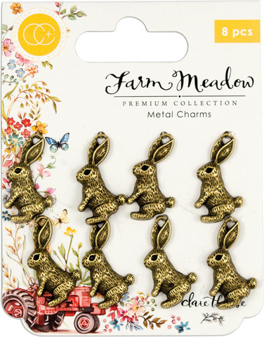 Craft Consortium Farm Meadow Metal Charms -koristeet Rabbit