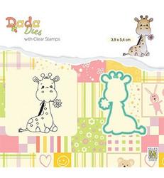 Nellie's Choice leimasin- ja stanssisetti Cute Giraffe