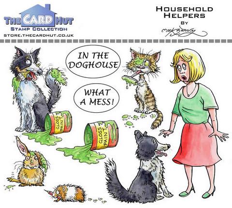 The Card Hut leimasinsetti  Household Helpers