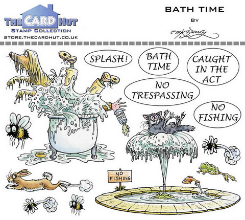 The Card Hut leimasinsetti Bath Time