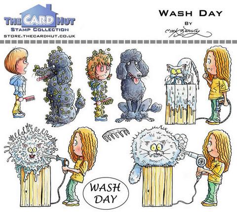 The Card Hut leimasinsetti Wash Day