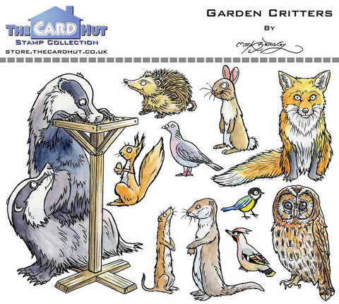 The Card Hut leimasinsetti Garden Critters