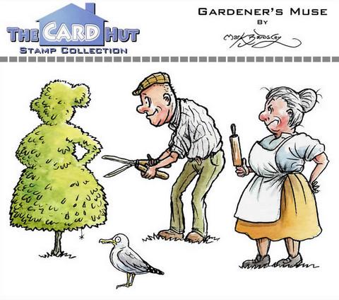The Card Hut leimasinsetti Gardener's Muse