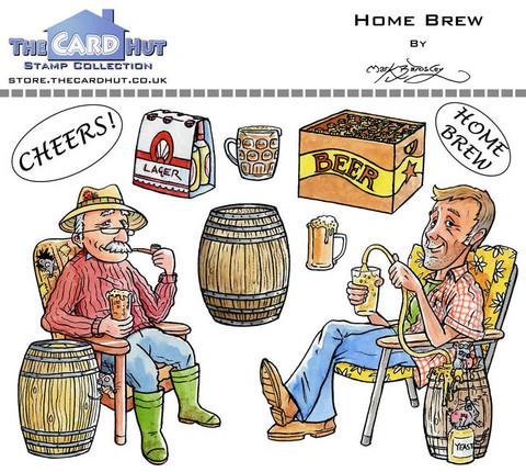 The Card Hut leimasinsetti Home Brew