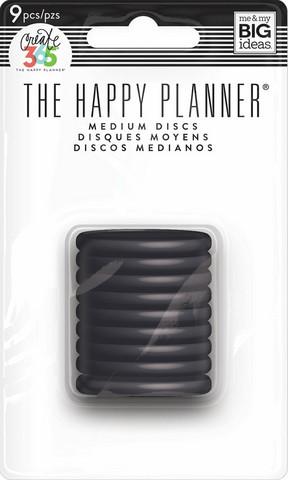 Mambi Happy Planner renkaat. Black. 1.25