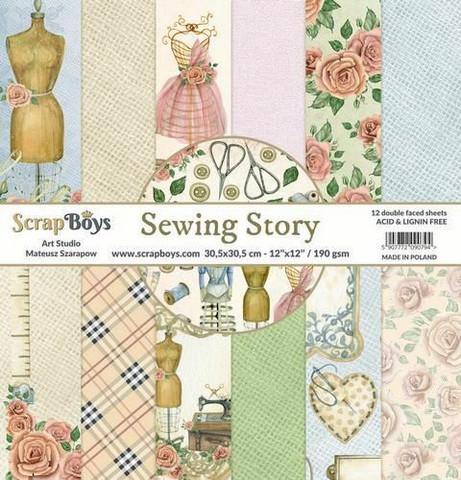 ScrapBoys paperikko Sewing Love,12