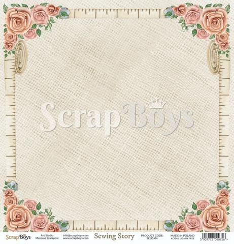 ScrapBoys Sewing Love skräppipaperi 04