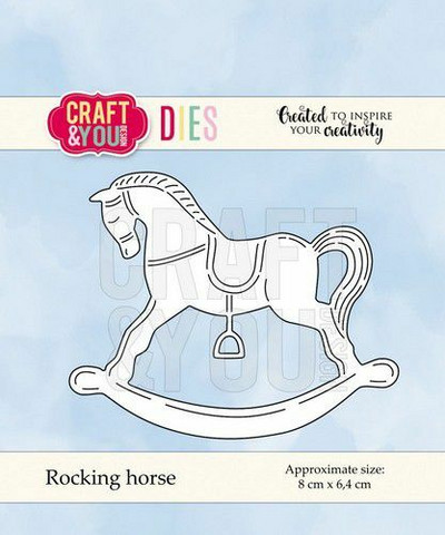Craft & You stanssi Rocking Horse