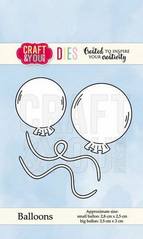 Craft & You stanssisetti Balloons
