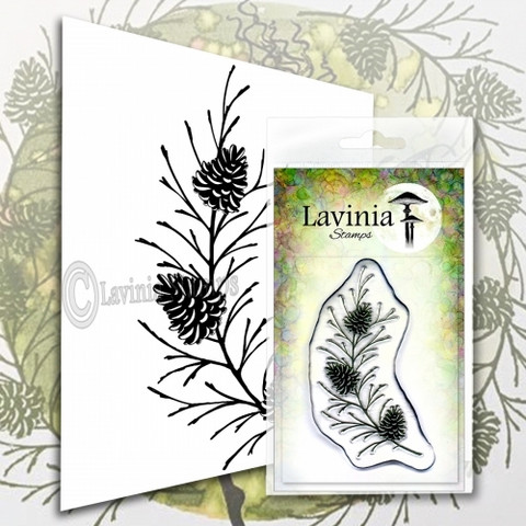 Lavinia Stamps leimasin Fir Cone Branch