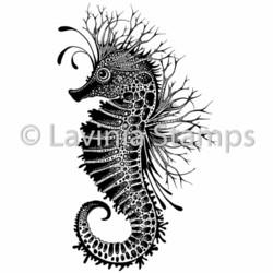 Lavinia Stamps leimasin Sebastian the Seahorse