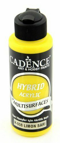 Cadence Hybrid Acrylic -akryylimaali, sävy Lemon Yellow, 120 ml