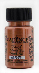 Cadence Dora Metallic -akryylimaali, sävy Copper, 50 ml