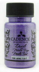 Cadence Dora Metallic -akryylimaali, sävy Amethyst, 50 ml