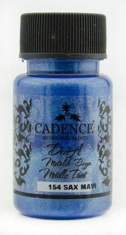 Cadence Dora Metallic -akryylimaali, sävy Sax Blue, 50 ml
