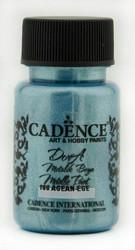 Cadence Dora Metallic -akryylimaali, sävy Aegean, 50 ml