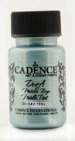 Cadence Dora Metallic -akryylimaali, sävy Blue Green, 50 ml