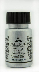 Cadence Dora Metallic -akryylimaali, sävy Silver, 50 ml