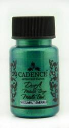 Cadence Dora Metallic -akryylimaali, sävy Emerald, 50 ml