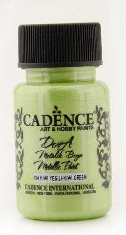 Cadence Dora Metallic -akryylimaali, sävy Kiwi Green, 50 ml