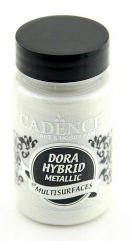 Cadence Dora Hybrid Metallic -akryylimaali, sävy Pearl, 90 ml