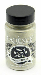 Cadence Dora Hybrid Metallic -akryylimaali, sävy Platinum, 90 ml