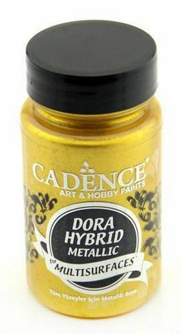 Cadence Dora Hybrid Metallic -akryylimaali, sävy Rich Gold, 90 ml