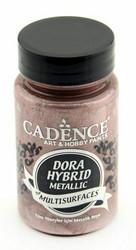 Cadence Dora Hybrid Metallic -akryylimaali, sävy Antique Pink, 90 ml