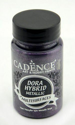 Cadence Dora Hybrid Metallic -akryylimaali, sävy Dark Orchid, 90 ml