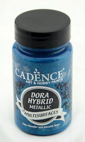 Cadence Dora Hybrid Metallic -akryylimaali, sävy Blue 90 ml