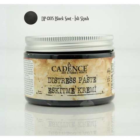 Cadence Distress -pasta, sävy Black Soot, 150 ml